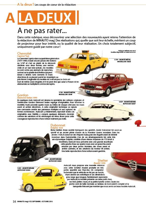 minauto mag 39 no52 le magazine de la voiture miniature de collection. Black Bedroom Furniture Sets. Home Design Ideas