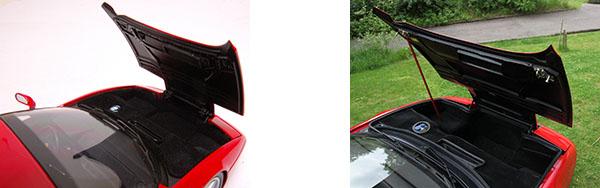 Ferrari Testa Rossa miniature capot