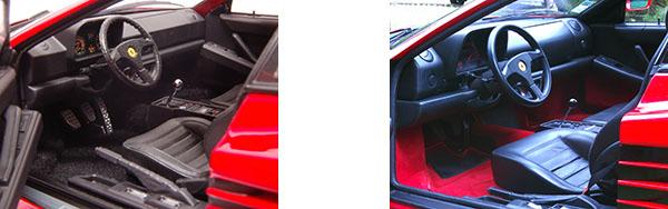 Ferrari Testa Rossa miniature intérieur