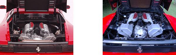 Ferrari Testa Rossa miniature moteur